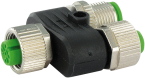 T-coupler M12 female /M12 female - M12 male