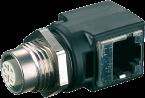 M12-RJ45-Ethernet-Adapter 90°