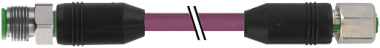 M12 St. 0° / M12 Bu. 0° DeviceNet V4A